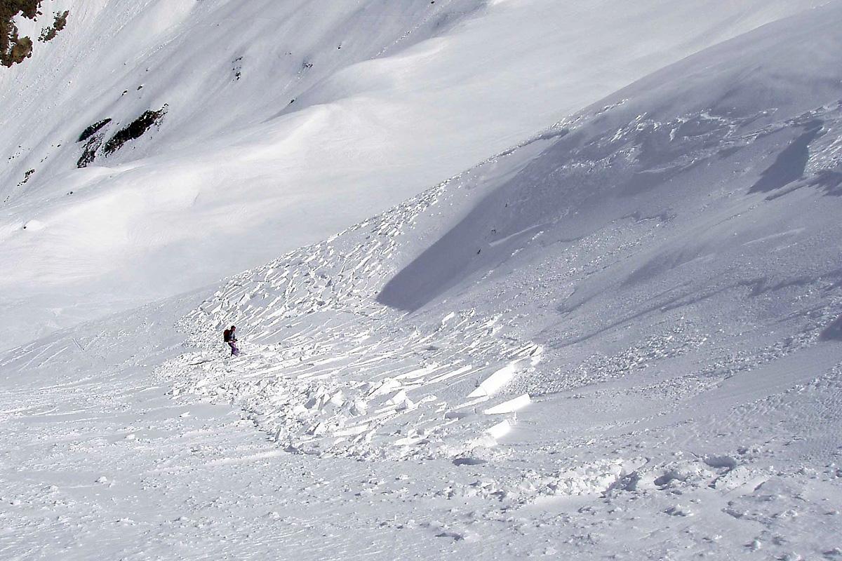 déclenchement d'une plaque au passage d'un skieur